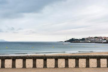Beach promenade in Sanxenxo in the Rias Baixas, Galicia