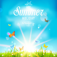 Lovely summer holiday background