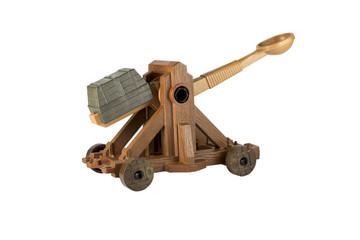 An ancient Norman Catapult toy