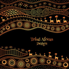 African background design template for cover design, magazine cover, banner, card design, flyer design