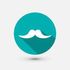 Hipster mustache minimal icon