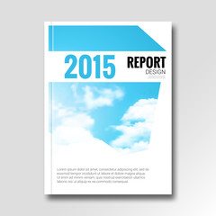 Cloud sky vector annual report cover brochure flyer magazine design layout mockup catalog template. vector illustration