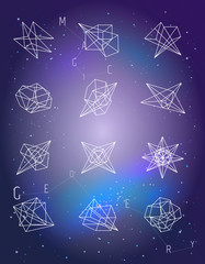 Set of geometric shapes. Vector isolated. Trendy logo or icons.