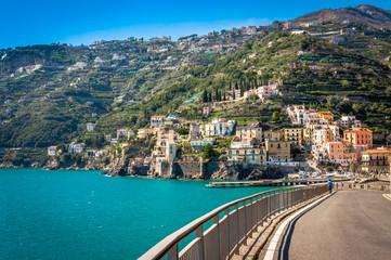 Wall Mural - Breathtaking road on the splendid Amalfi Coast