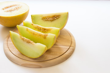 Slices of melon.