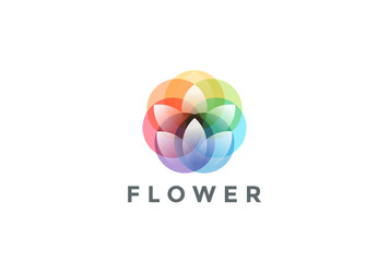 Flower Logo colorful abstract design vector template