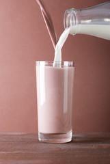 mixing chocolate milk shake