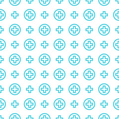 Seamless pattern vector ornament Cross and medicine.