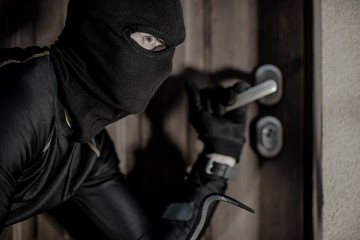 House Burglar in Mask