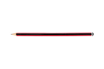 Red and black color pencil isolated on white background