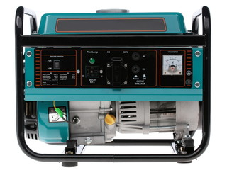 diesel generator on a white background
