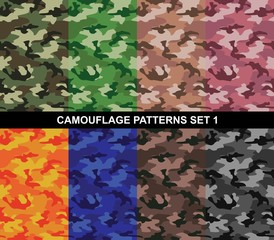 Camouflage Patterns Set 1 - Simple Camouflage
