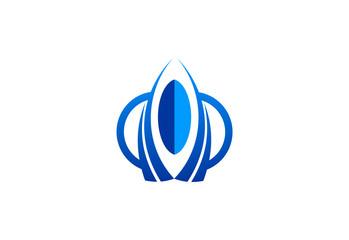 rocket shape vector logo.