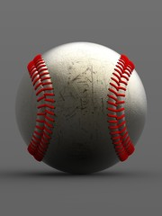 Baseball. 3D illustration. 3D CG.