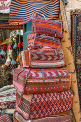 Traditional persian bags on the market in Esfahan, Iran.