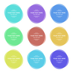 Set of vector colorful round banners. Abstract vector shapes for design with sample text. EPS10