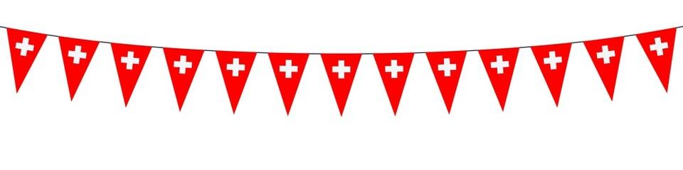Banner. Garlands, pennants, Switzerland