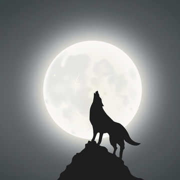 Full Moon And The Wolf