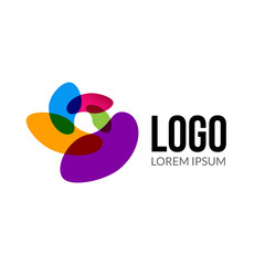 Vector abstract logo template layout. Abstract colorful creative sign or icon. Design element.