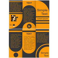 Corporate Business Tri-Fold Mock up. Brochure Design