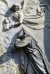 Jesus betet zu Engel