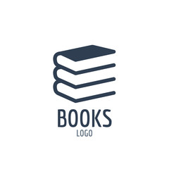 Books icon sign. Icon or logo design with three books.