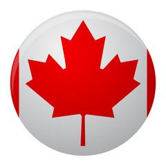 Cananda flag icon flat