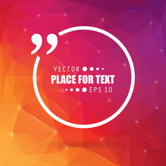 Abstract concept vector empty speech square quote text bubble. For web and mobile app isolated on background, illustration template design, creative presentation, business infographic social media