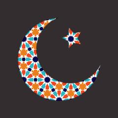 Islamic ramadan greeting card.