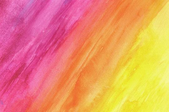 Purple-yellow grunge in watercolor