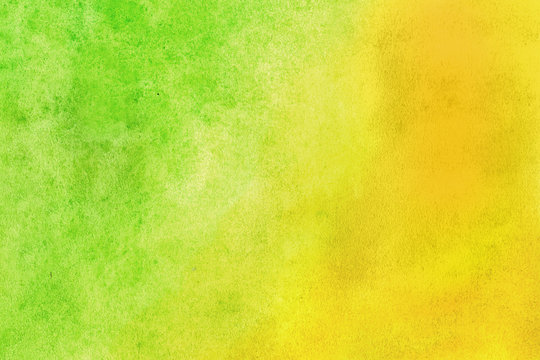 Yellow-green grunge in watercolor