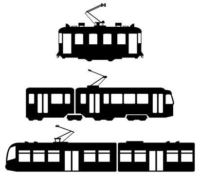 set of trams