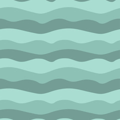 Vector illustration of sea waves