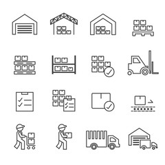 warehouse icon.line vector.