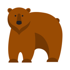 Cartoon bear vector illustration.