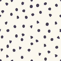 Chocolate chip polka dots vector seamless pattern