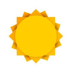 Abstract yellow sun. Clean vector illustration.