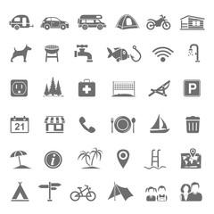 Black Icons - Campsite