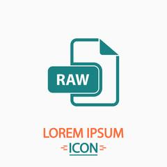 RAW computer symbol