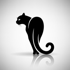 Stylized Black Cat