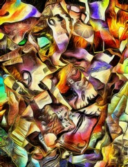 Painterly Flowing Abstract