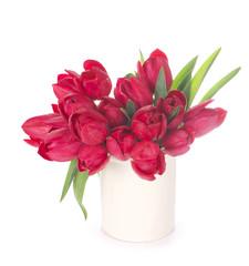 Tulips, isolated on white