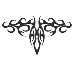 tribal tattoo. vector illustration without transparency. Black tattoo. Set of tribal tattoo. Line tribal tattoo. Men's tattoo. Women's tattoo.