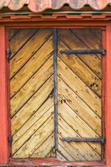 Old medieval wooden door