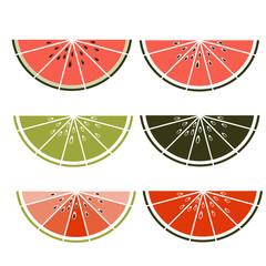 Vector sliced watermelon