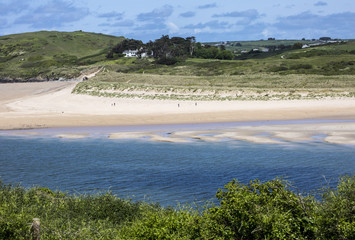 Estuary at Padstow in Cornwall, England