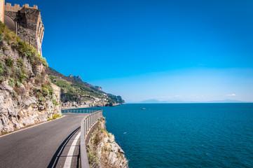 Wall Mural - The scenic coastal road near Maiori, Amalfi Coast, Italy