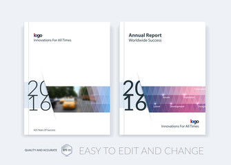 Set of Brochure template layout, cover design annual report, magazine,