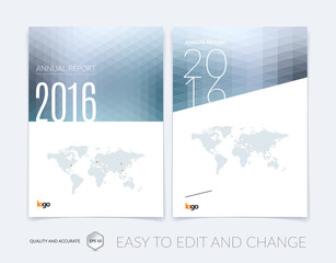 Cover design, flyer, leaflet, with modern abstract geometric bac