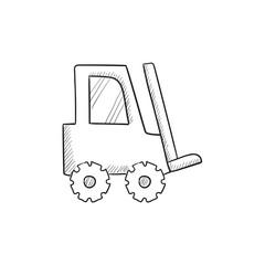 Forklift sketch icon.